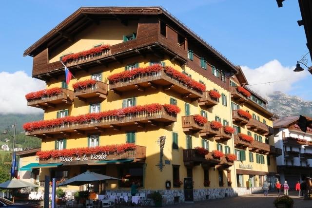 Cortina, hotel de la Poste. Le Dolomiti, sito UNESCO