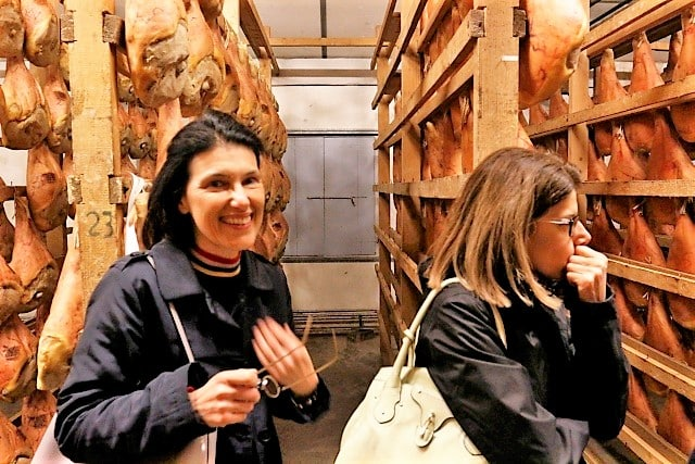 Ham factory in Este. Wine food tasting in the Venetian hills with Isabella Bariani professional guide in Venice