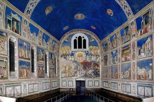 Padua Scrovegni Chapel frescoed by Giotto