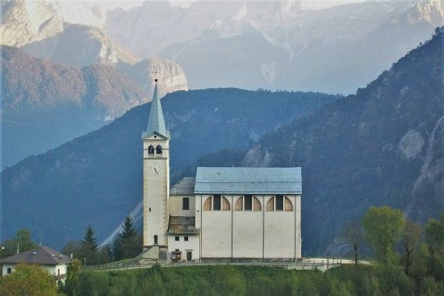St Martin church, Valle di Cadore, Dolomite mountains, Veneto region