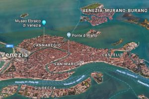 Venice map, meeting points with Isabella Bariani, your professional guide